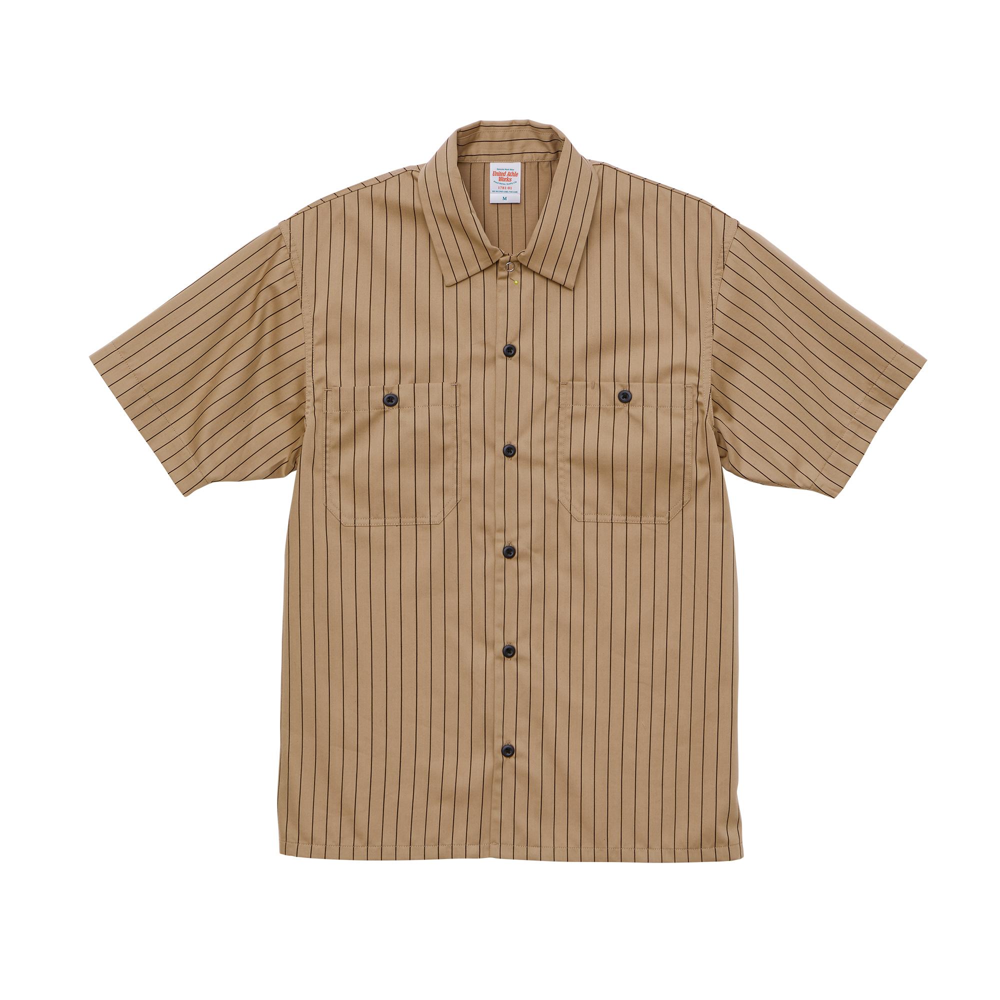 T/Cストライプワークシャツ